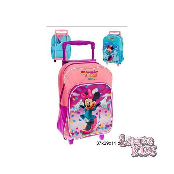 Cartable trolley minnie mauve
