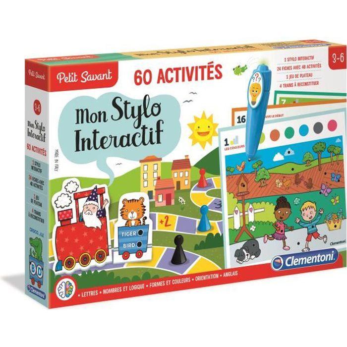 CLEMENTONI Petit Savant - Mon Stylo interactif - 60 activités - 3-6 ans - Achat / Vente jeu d ...
