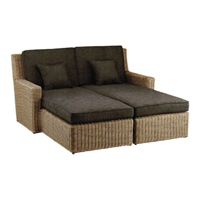 couchette lounge 2 places love seat hks achat vente chaise longue transat couchette lounge. Black Bedroom Furniture Sets. Home Design Ideas