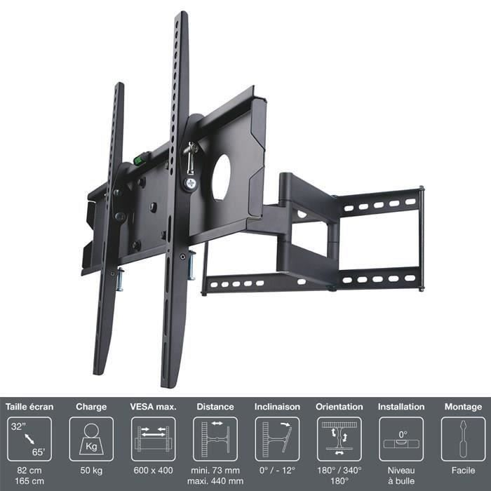Inotek pro m1 3265 support tv mural 32 65 fixation - Support tv mural orientable ...