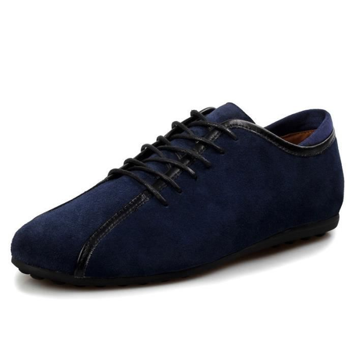 Mode casual chaussures plates pour homme Navy Blue