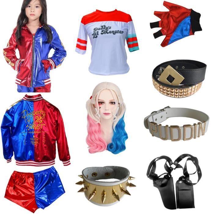 Nouveau pour Enfants Harley Quinn Cosplay Suicide Squad Déguisement Halloween