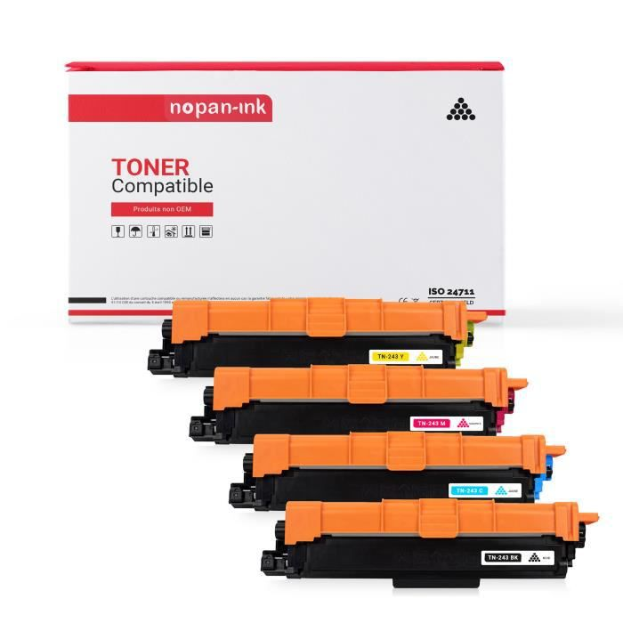 avec Puce BONINK Compatible Brother TN-247/TN-243/TN247/TN243 Toner Noir pour Brother MFC-L3750CDW MFC-L3770CDW DCP-L3550CDW HL-L3210CW HL-L3230DW