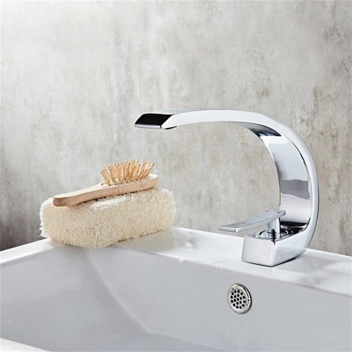 ménage robinet à levier unique de Laiton massif bassin robinet froid et à  chaud boutons valve en céramique