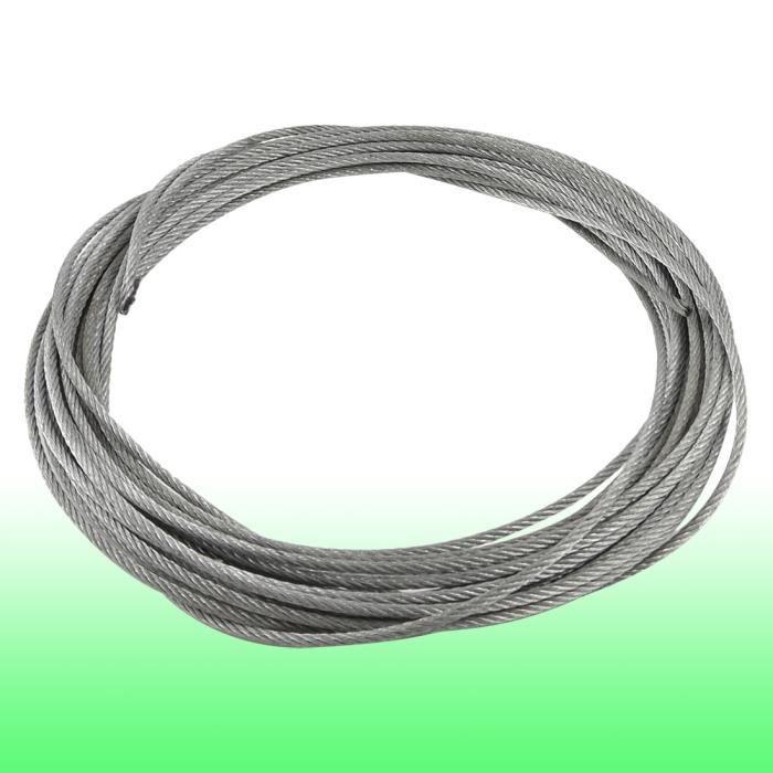 5mm Diamètre recouvert de PVC flexible en acier inoxydable Fil Câble 10m