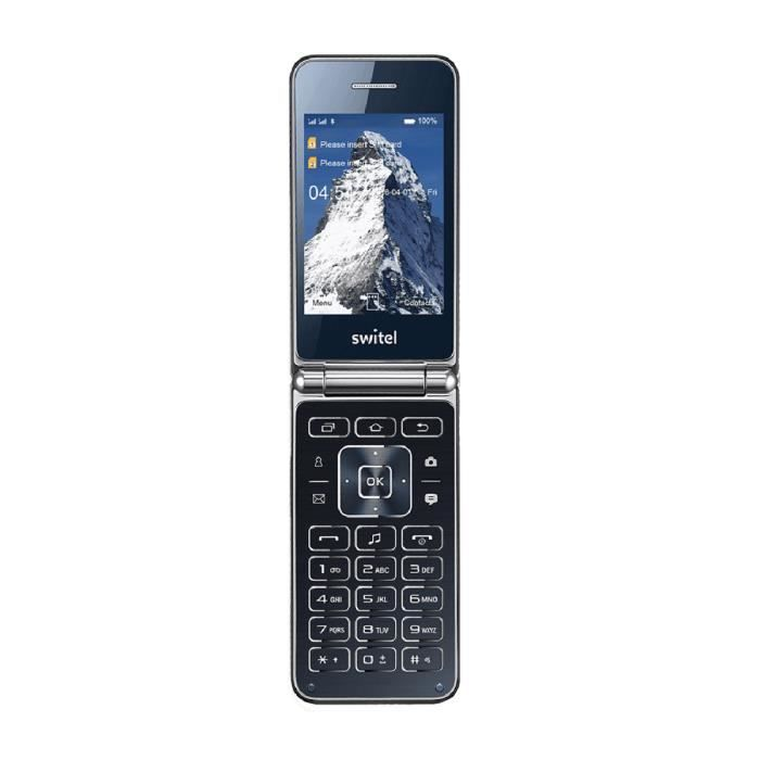 Telephone Mobile Clapet Type Senior M600 Switel