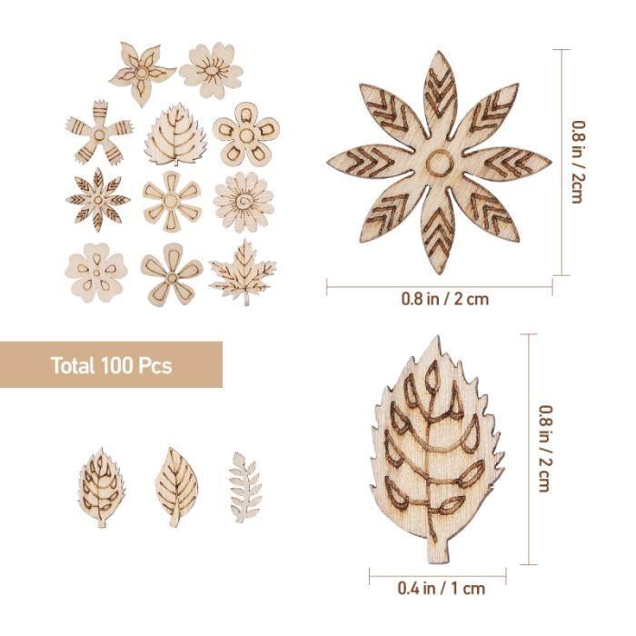 2 Grande Fleur Boutons En Bois Embellissements Scrapbooking Carte Making Craft