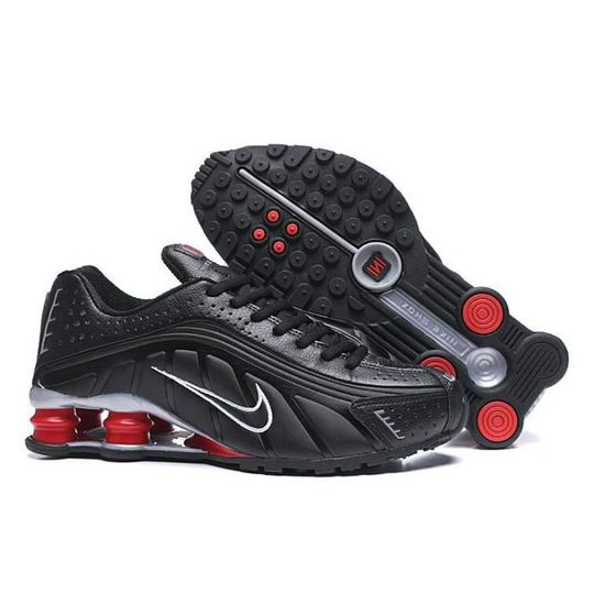 Nike Shox R4 Chaussure pour Homme NOIR ROUGE - Cdiscount Chaussures