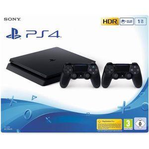 CONSOLE PS4 PS4 Slim 1To Noire + Manette DualShock 4 Noire V2