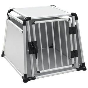 CAISSE DE TRANSPORT Cage de transport pour chiens Aluminium L