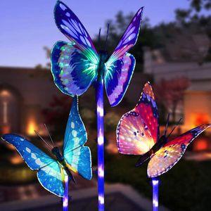 DÉCORATION LUMINEUSE DECORATION LUMINEUSE Papillon solaire LED extérieu