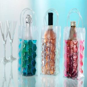 Moet /& Chandon Champagne Rafra/îchisseur de bouteille Transparent Bac /à gla/çons or pour une Magnum 1,5 L ou bouteille champagne 0,75 L