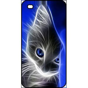 COQUE - BUMPER Coque apple iphone 4s chat eyes blue