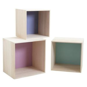 etagere cube en bois achat vente etagere cube en bois pas cher cdiscount. Black Bedroom Furniture Sets. Home Design Ideas
