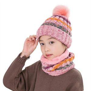 BONNET - CAGOULE Bonnet tricoté hiver enfant, rose Mon1224-9-30276