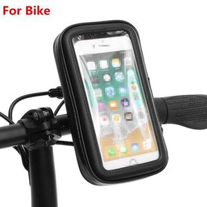 FIXATION - SUPPORT MM-Guidon Support +Coque Housse Etanche Moto Scoot