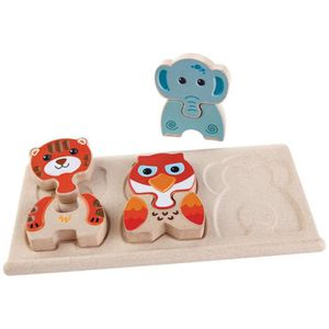 PUZZLE PLAN TOYS Jeu en bois Puzzles animaux