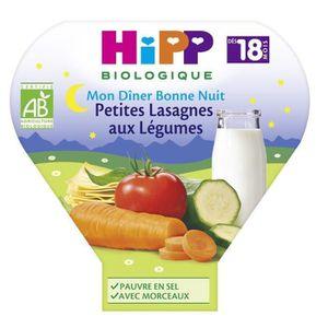PURÉES DE LÉGUMES HIPP BIOLOGIQUE Mon dîner bonne nuit Petites lasag