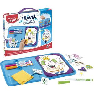 JEU DE COLORIAGE - DESSIN - POCHOIR MAPED CREATIV - Travel Board - Ardoise nomade Dess