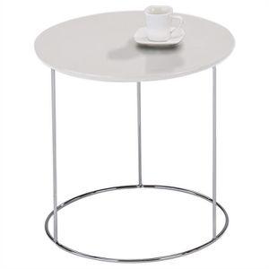 TABLE D'APPOINT Table d'appoint FIDELIUS table à café blanche tabl