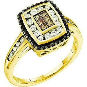 BAGUE - ANNEAU Bague Femme Diamants 0.50 ct  14 ct 585-1000 Or Ja