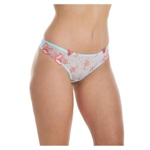 Womens ladies sheer mesh lacé rose underwear thong tailles 8-18 ailuVkAW