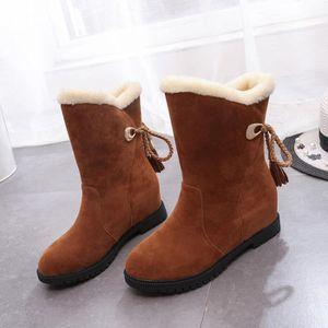 Bottes de neige d'hiver Bottines femme Chaussures Talons Bottes hiver Chaussures Mode