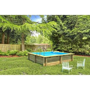 Piscine bois semi enterr e 3m for Piscine rectangulaire bois semi enterree