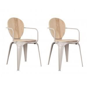 Industry Grise avec Achat Chaise accoudoirsLo… Louix rBeCodx