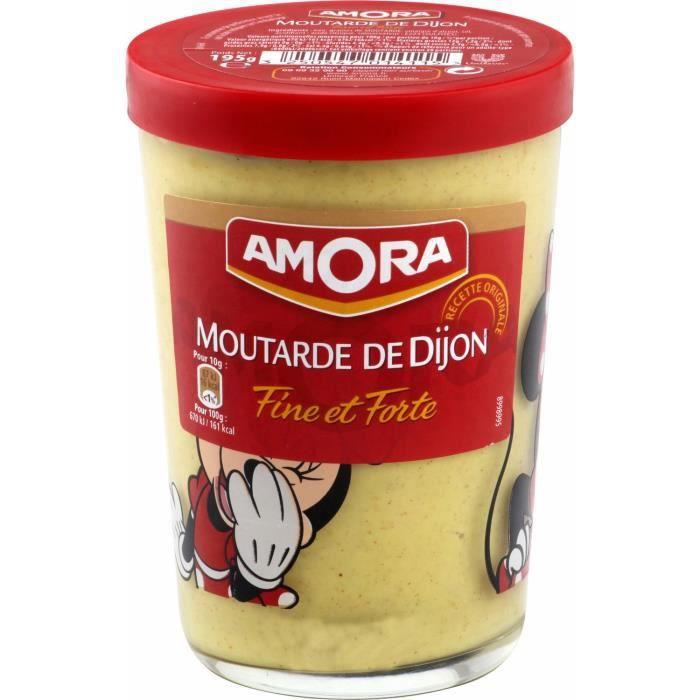 Amora Moutarde Forte Verre Tv 195g 195 GR Amora