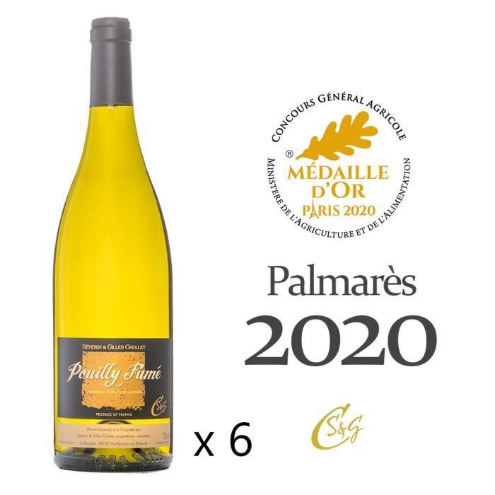 Vin blanc Pouilly Fumé Domaine Séverin et Gilles Chollet Médaille d'or Paris millésime 2019