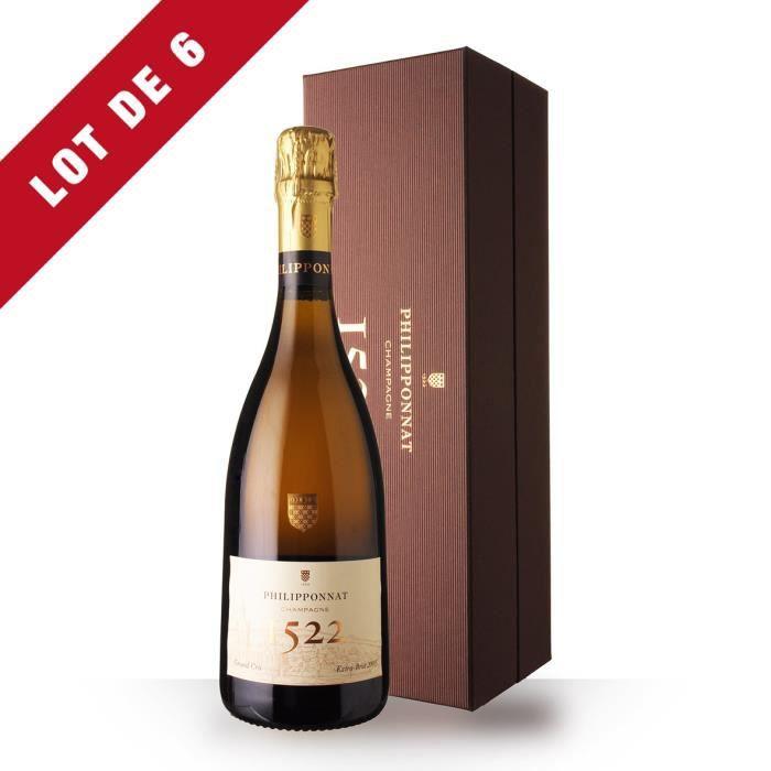 Lot de 6 - Philipponnat Cuvée 1522 1er Cru Millésimé 2009 Extra-Brut - Coffret - 6x75cl - Champagne