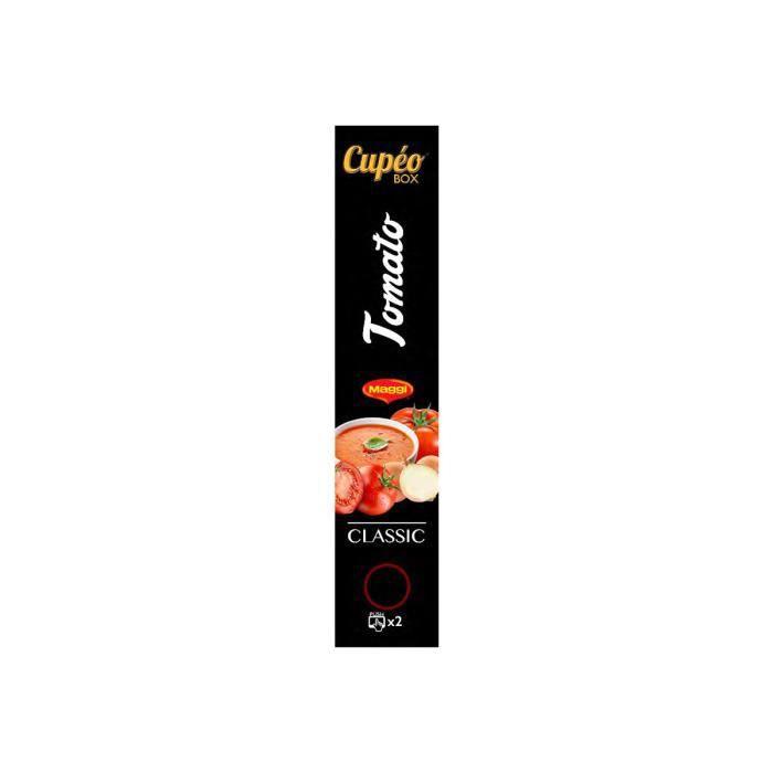 JEDE Cupeo Box Classic Tomato Maggi Soupe instantanée (cartouche)