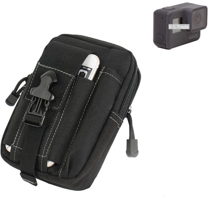 Grand Pochette ceinture, GoPro Hero 5 Black, noir sac camera digital Housse de protection sac K-S-Trade®