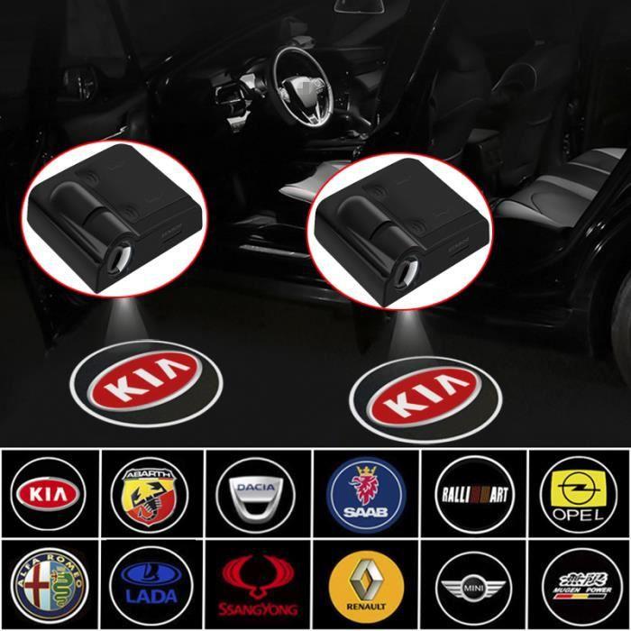 Projecteur Laser de bienvenue porte voiture - 2 pièces, Led sans fil, Logo fantôme ombre, lumière - Modèle: For MINI - ANQCCTB03373