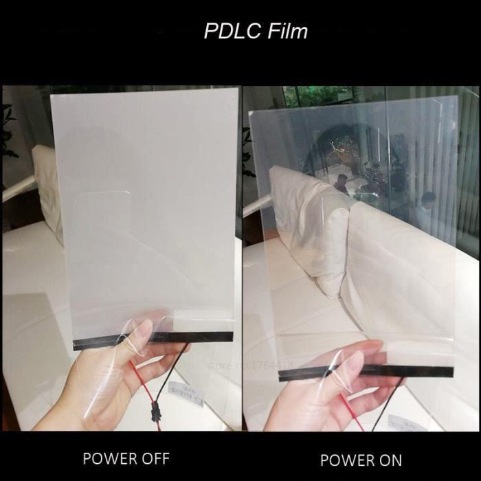 adhésif opaque électrique commutable blanc-noir-gris, Film intelligent PDLC pour fenêtre, porte, échant White 20cmX15cm -GZ6891