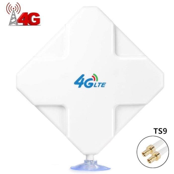 ANTENNE 4G LTE Antenne TS9, 35dbi Haut Gain Antenne WiFi Signal Booster Amplificateur de Signal d'ext&eacuterieur r&eacutece110