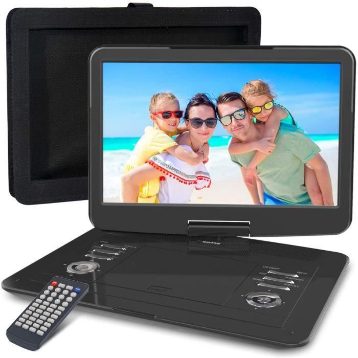 Lecteurs DVD portables WONNIE Lecteur DVD Portable 15.5 Pouces, avec écran orientable sur 270 degrés, Batterie Rechargea 5837