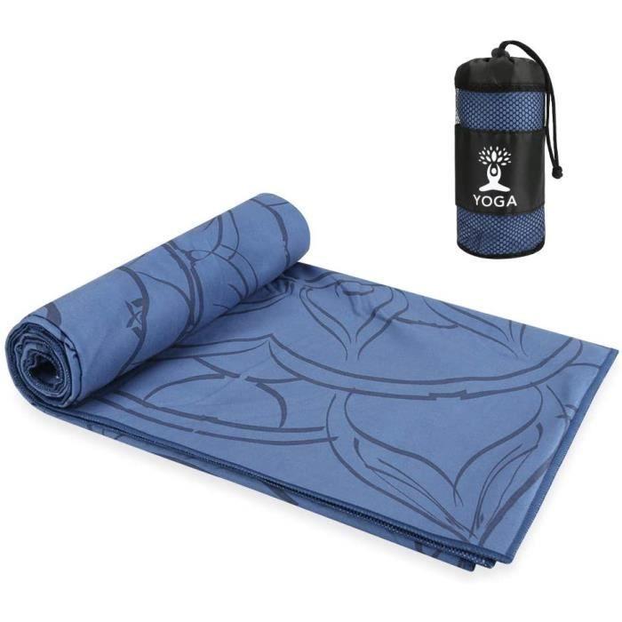 Serviette de Tapis de Yoga Chaude antidérapante, Serviettes de Yoga Pliables Absorption d'eau et séchage Rapide, Serviettes de Yoga