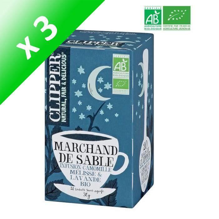 CLIPPER Infusion Marchand de Sable Bio - (Lot de 3x 30 g)
