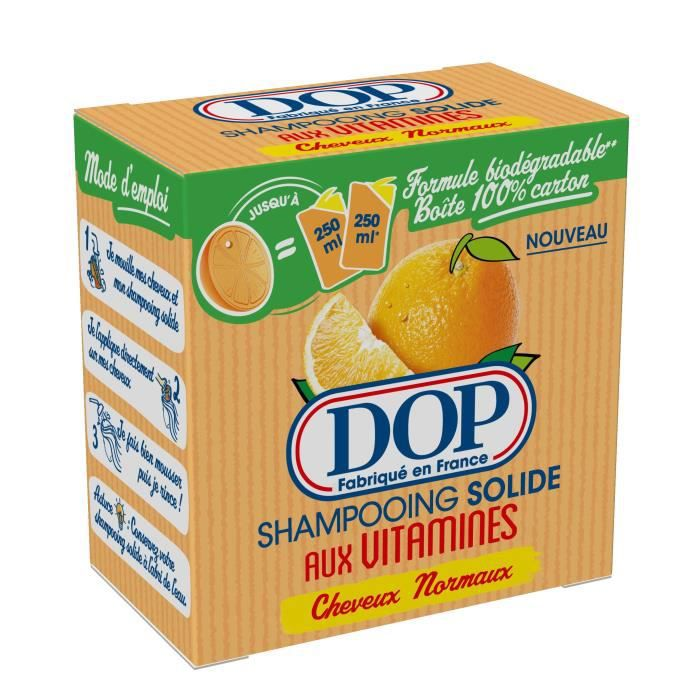 DOP Shampoing solide aux vitamines - Cheveux normaux - 65 g