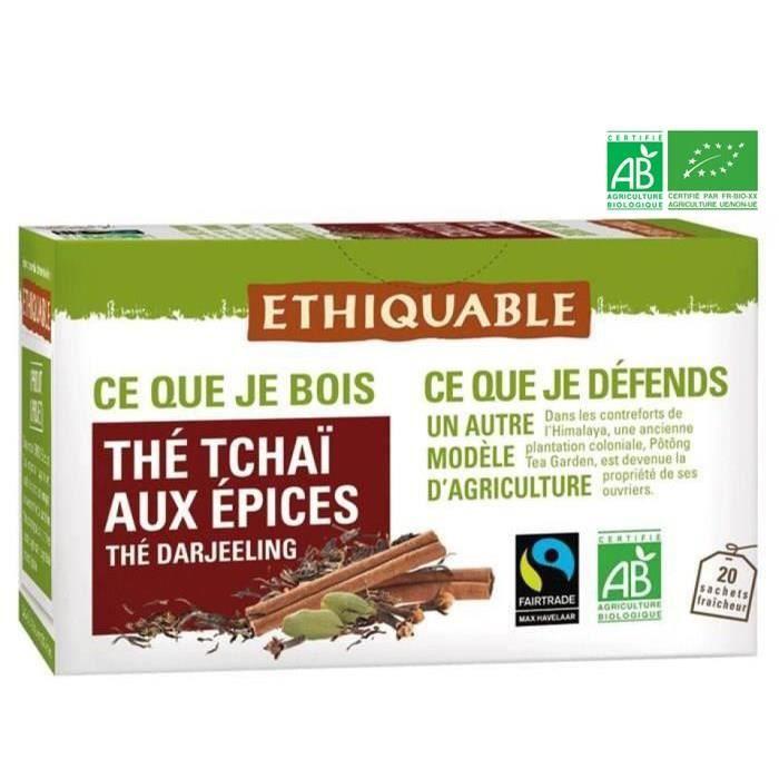 Thé tchai épices equitable bio - 36g