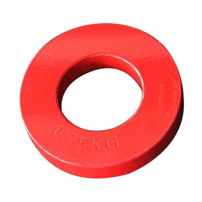 Prime Fractionnaire Poids Plaques En Acier 2 ''Diamètre Micro Poids Plaque pour Olympique Barbell ou Haltère 0,75 kg rouge