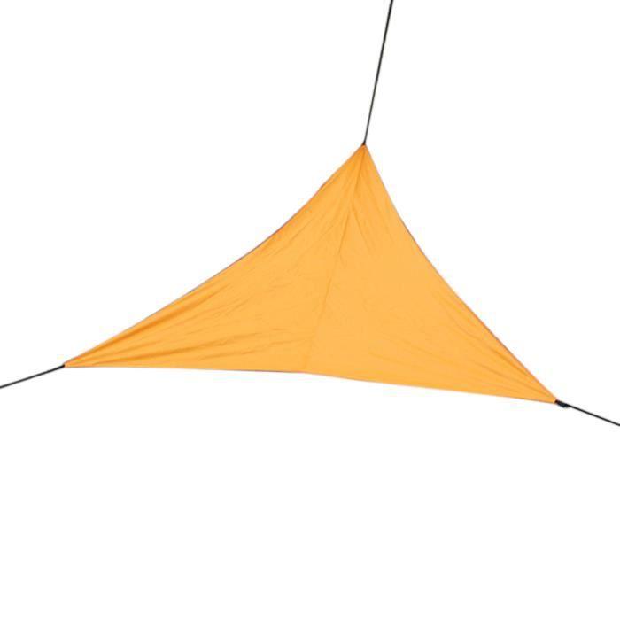 Abri de voile de protection triangulaire en plein air Toile d'ombrage de protection UV de couverture de patio résistant à l