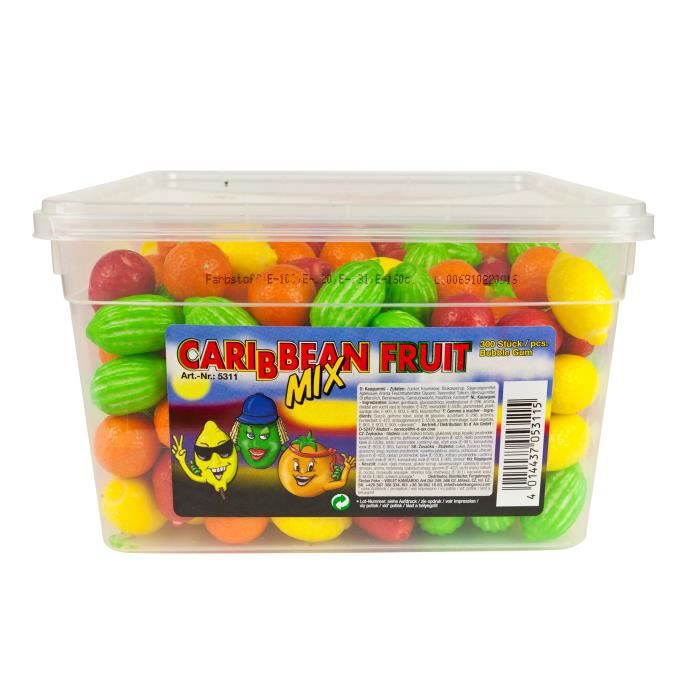 Carribean Fruit Mix Bubble Gum