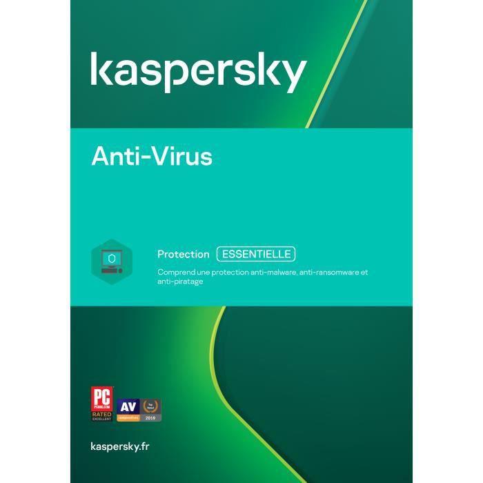 Kaspersky Antivirus 2019 (2 Postes 1 An) | Version Téléchargement