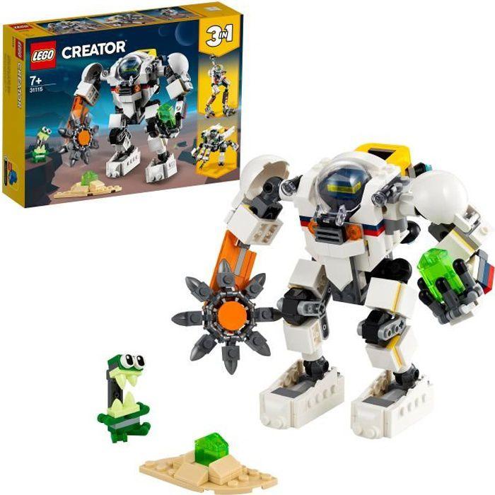 LEGO® 31115 Creator 3en1 Le Robot D'extraction Spatiale Jeu de Construction avec Automate de L'espace, Porte-Cargo et Figurine Alien
