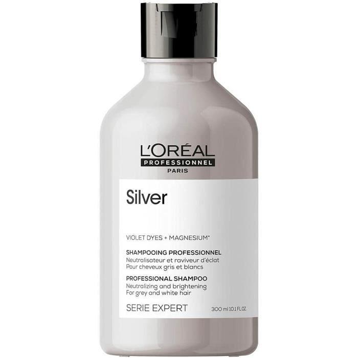 Silver Shampoing Déjaunisseur Pour Cheveux Gris L'Oréal 300ml