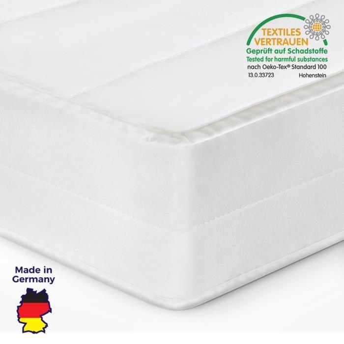 Matelas 200x200 matelas tout type de lits confort housse amovible matelas anti-acarien, épaisseur 15 cm