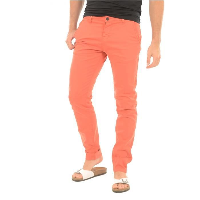 Chino stretch Lawson -DEELUXE Rouge Homme